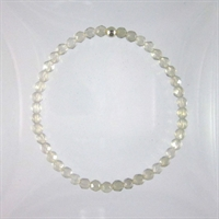 Grey Agate Faceted 4mm Classic Elastic Bracelet