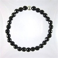 Onyx Faceted 6mm Classic Elastic Bracelet