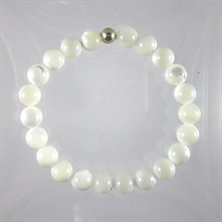 Mother Of Pearl 8mm Classic Elastic Bracelet