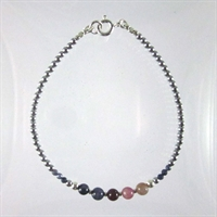 Ruby & Sapphire with Sapphire Noa Bracelet