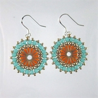 Orange & Sea Green Noemi Earrings