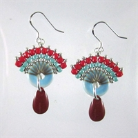 Blue & Red Lucilla Earrings