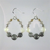 Grey Crazy Agate Mia Earrings