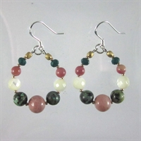 Rhodonite & African Turquoise Mia Earrings